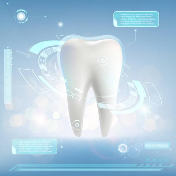 人間の歯。ホワイトニングと治療。 - 歯科点のイラスト素材/クリップアート素材/マンガ素材/アイコン素材