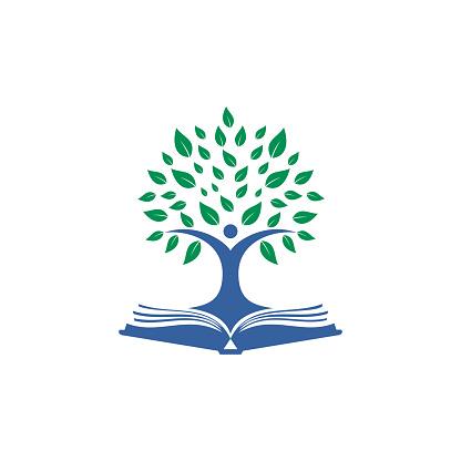 Human tree logo design. Leader education logo design.