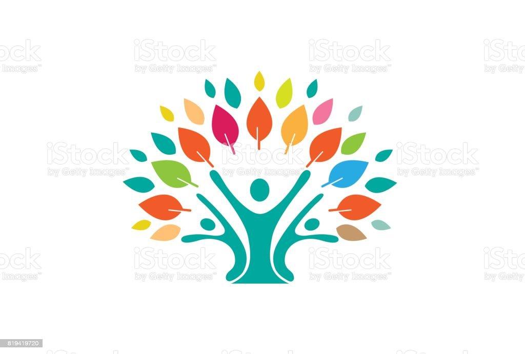 Menschlichen Baum Symbol Design Stock Vektor Art und mehr Bilder von ...