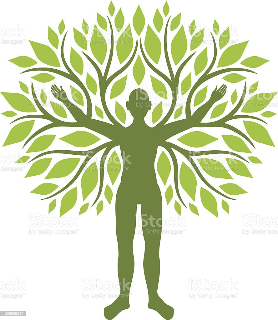 Human tree vector art illustration