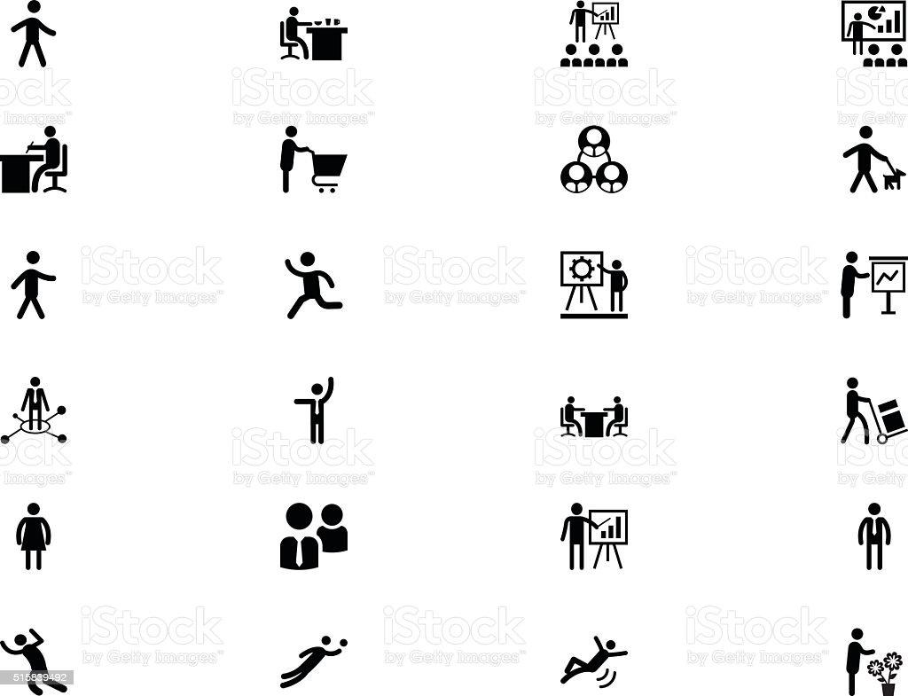 Human Vector Icons 2 vector art illustration