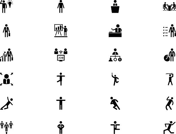 Human Vector Icons 3 Need a simple way to show different jobs? This set of human icons is useful for your projects with people, persons, human activities chief justice stock illustrations