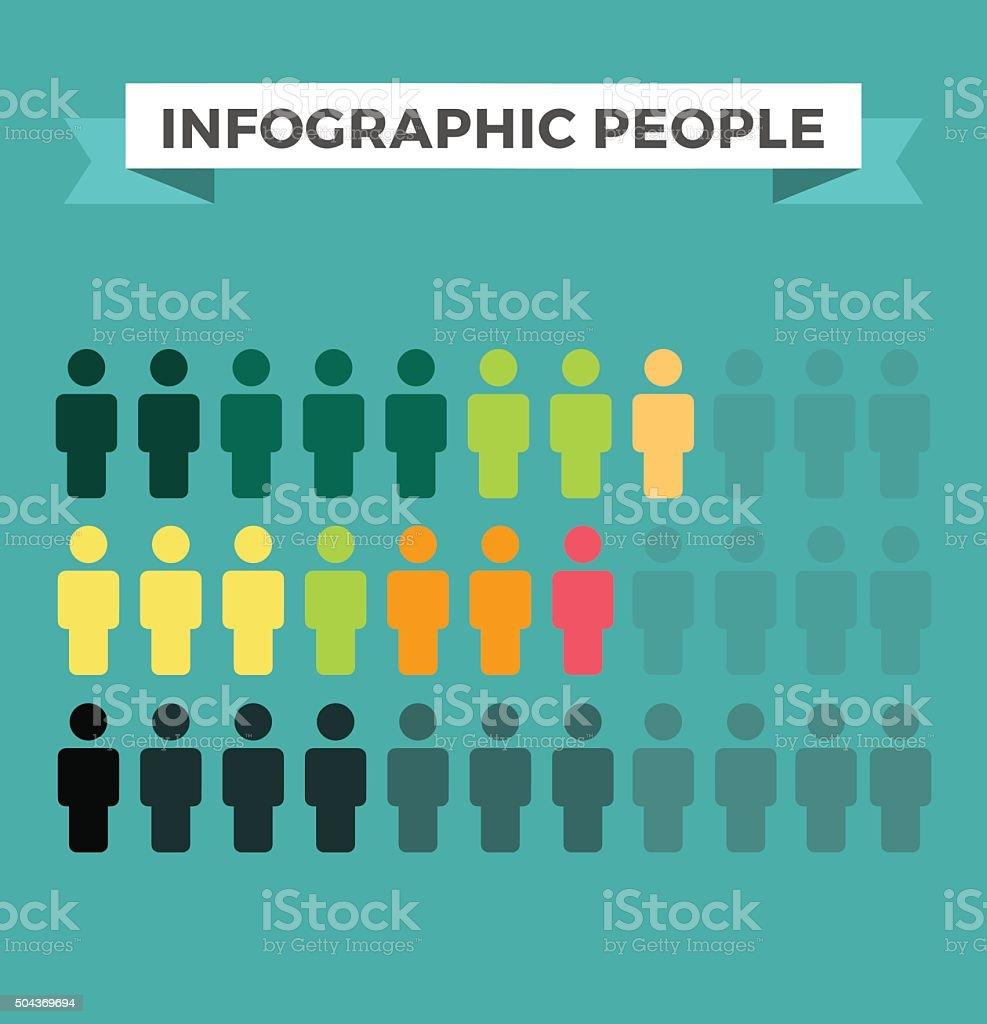Human vector icons infographic design elements vector art illustration