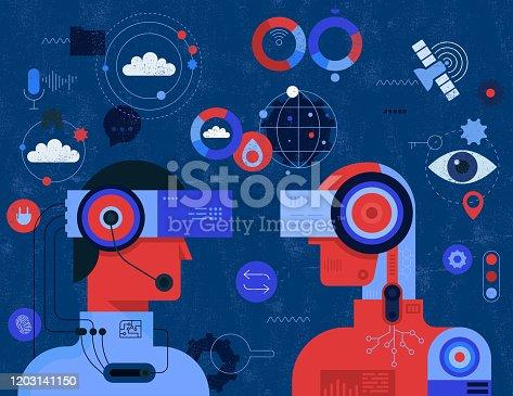 istock Human Vs Artificial Intelligence Concept 1203141150