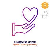 istock Humanitarian Aid Continuous Line Editable Stroke Line 1254527598