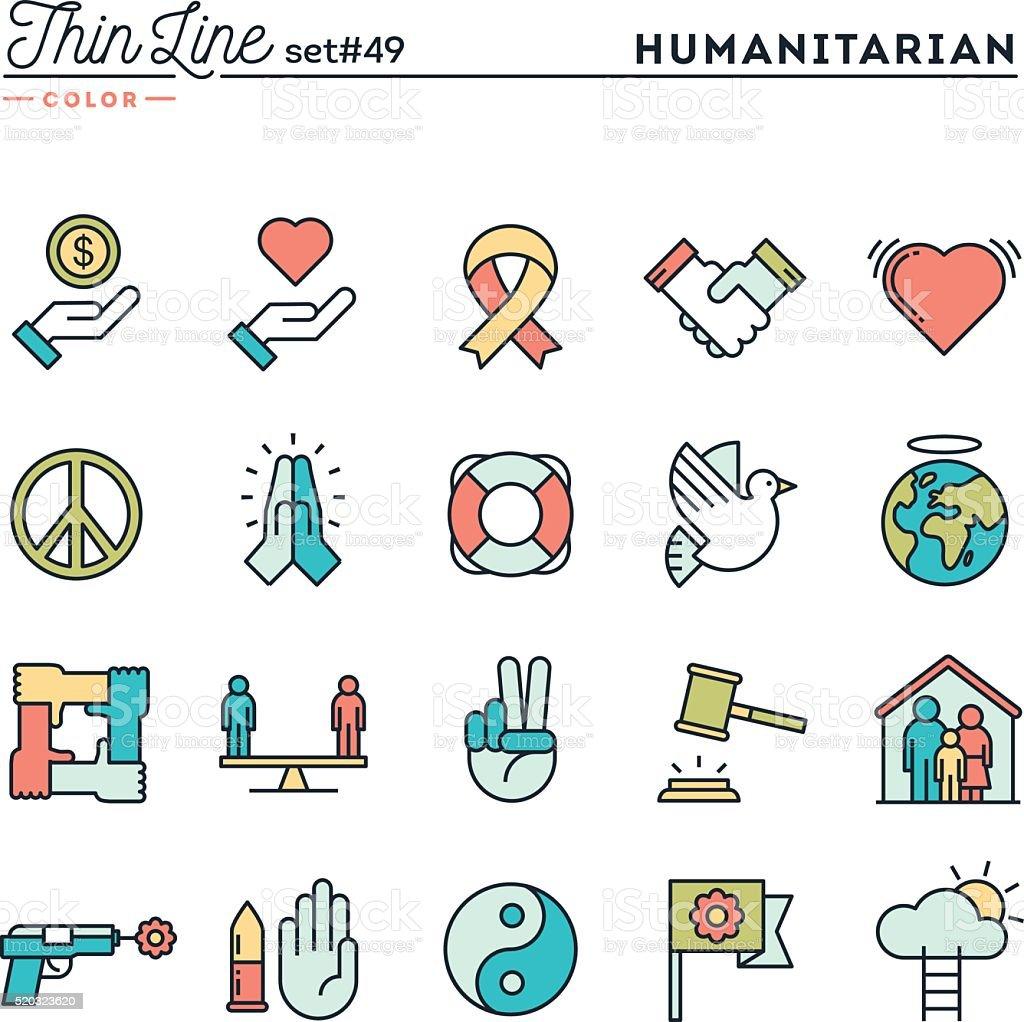 Humanitarian, peace, justice, human rights and more vector art illustration