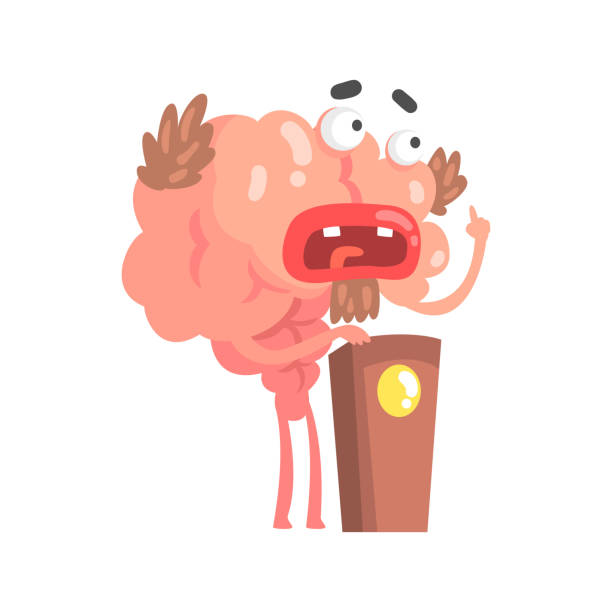 Royalty Free Human Brain Labels Cartoons Clip Art, Vector Images ...