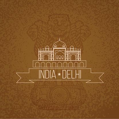 Humayun's Tomb - the symbol of India, Delhi.