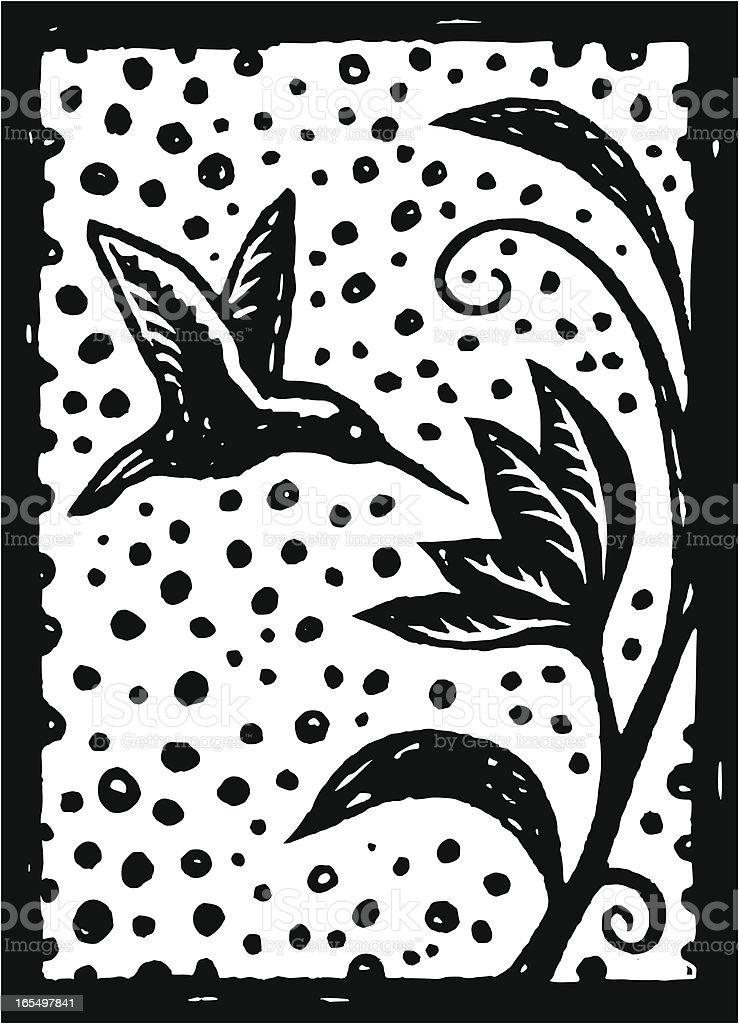 Humming bird vector art illustration