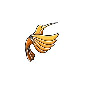 Humming Birds Color Illustration Vector Template. Suitable for Creative Industry, Multimedia, entertainment, Educations, Shop, and any related business.