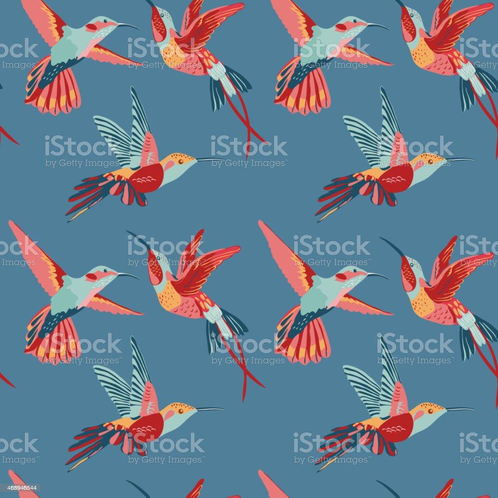 Hummingbird Background - Retro seamless pattern Hummingbird Background - Retro seamless pattern in vector 2015 stock vector