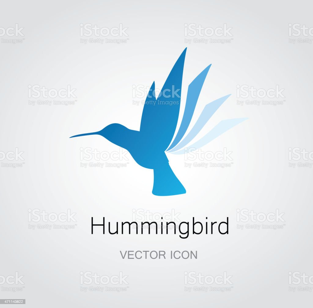 Hummingbird symbol vector art illustration
