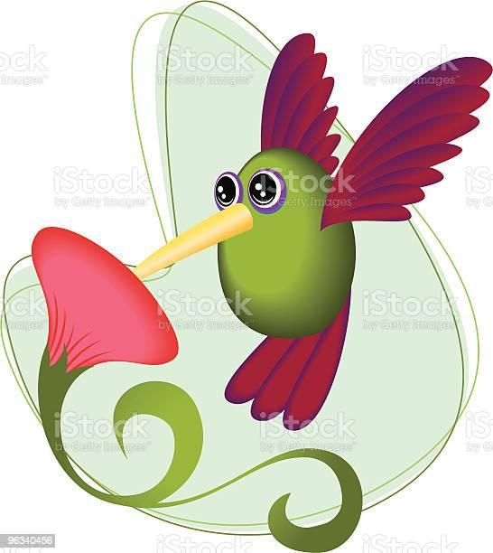 Hummingbird Próbować Flower - Stockowe grafiki wektorowe i więcej obrazów Koliber