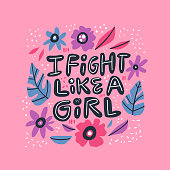 Humoristic girl power hand drawn quote