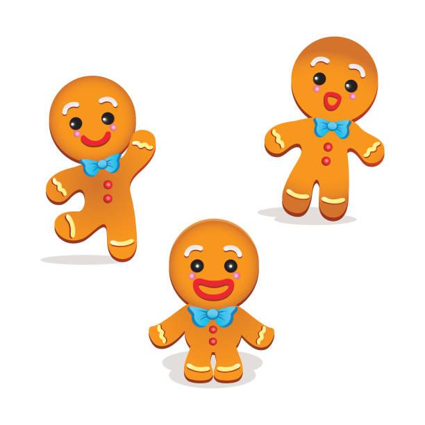 ilustrações de stock, clip art, desenhos animados e ícones de humorous gingerbread vector - cooker happy