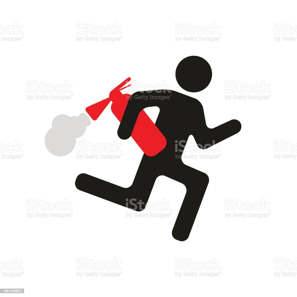 humorous warning sign man with fire extinguisher royalty-free humorous warning sign man with fire extinguisher stock vector art & more images of adult