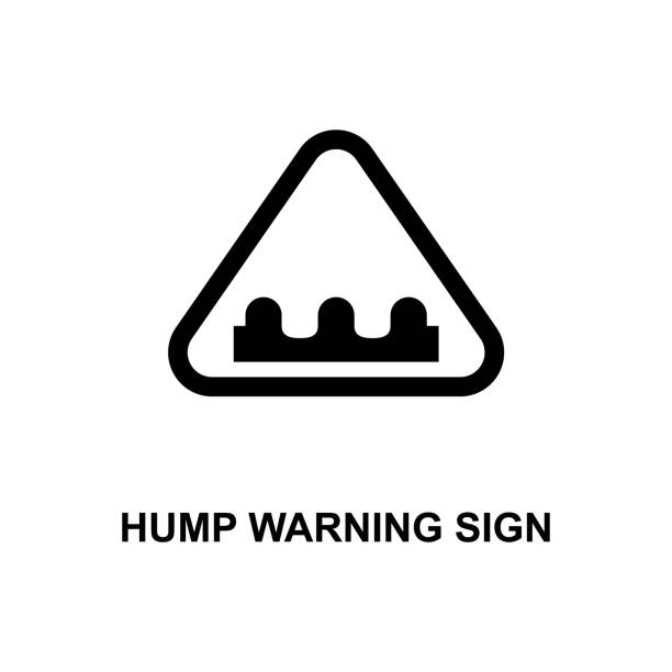 royalty free background of a bump road sign clip art vector images