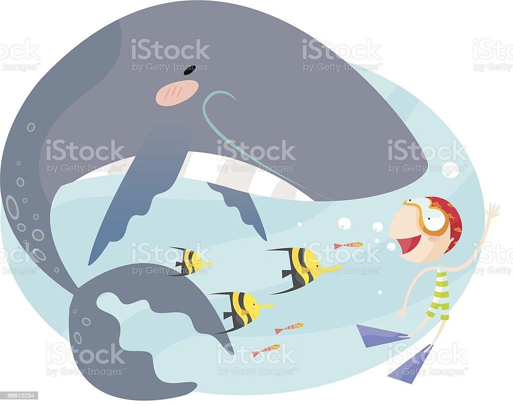 Горбатый кит - Векторная графика В полный рост роялти-фри