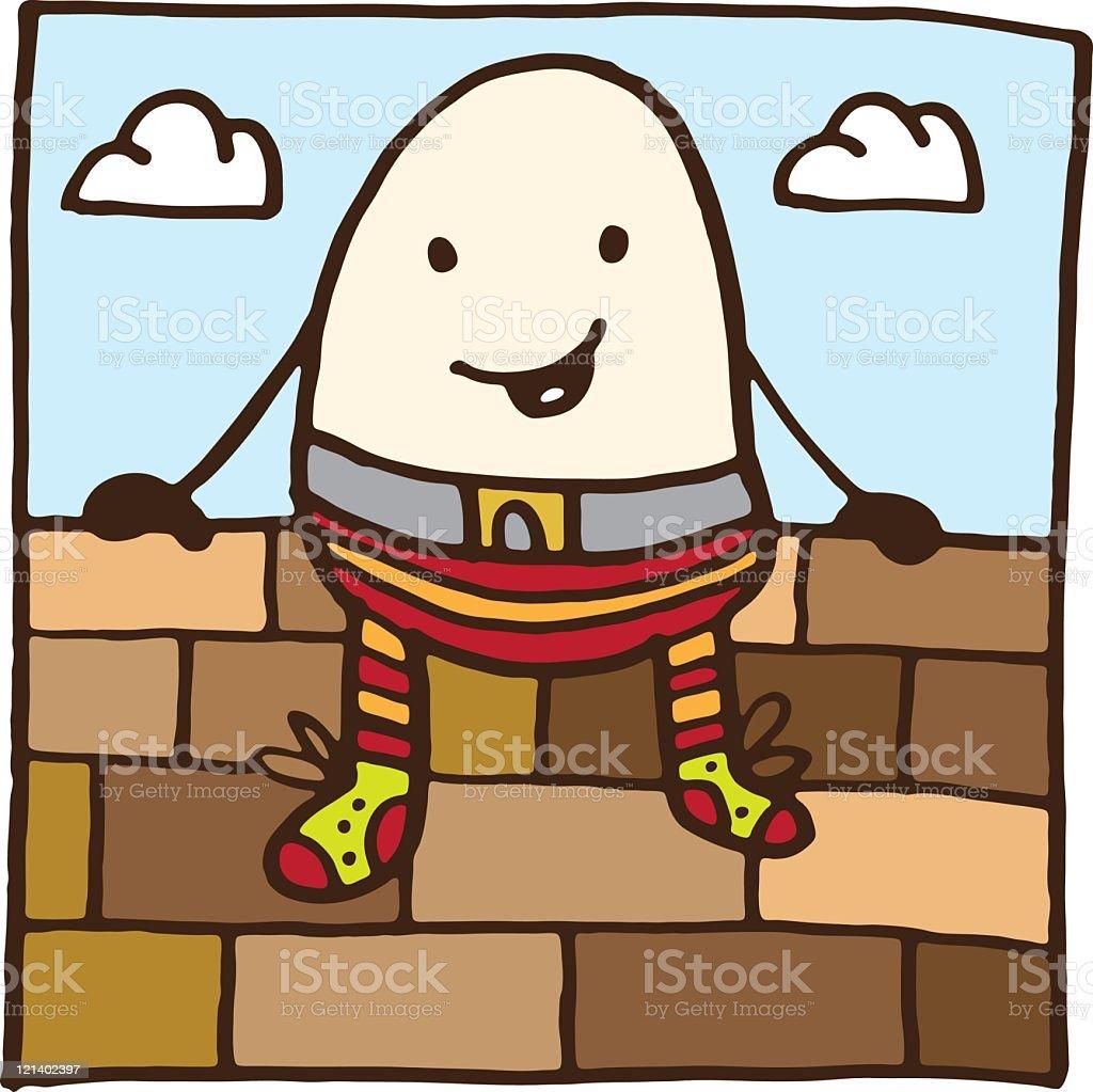 Humpty Dumpty royalty-free stock vector art