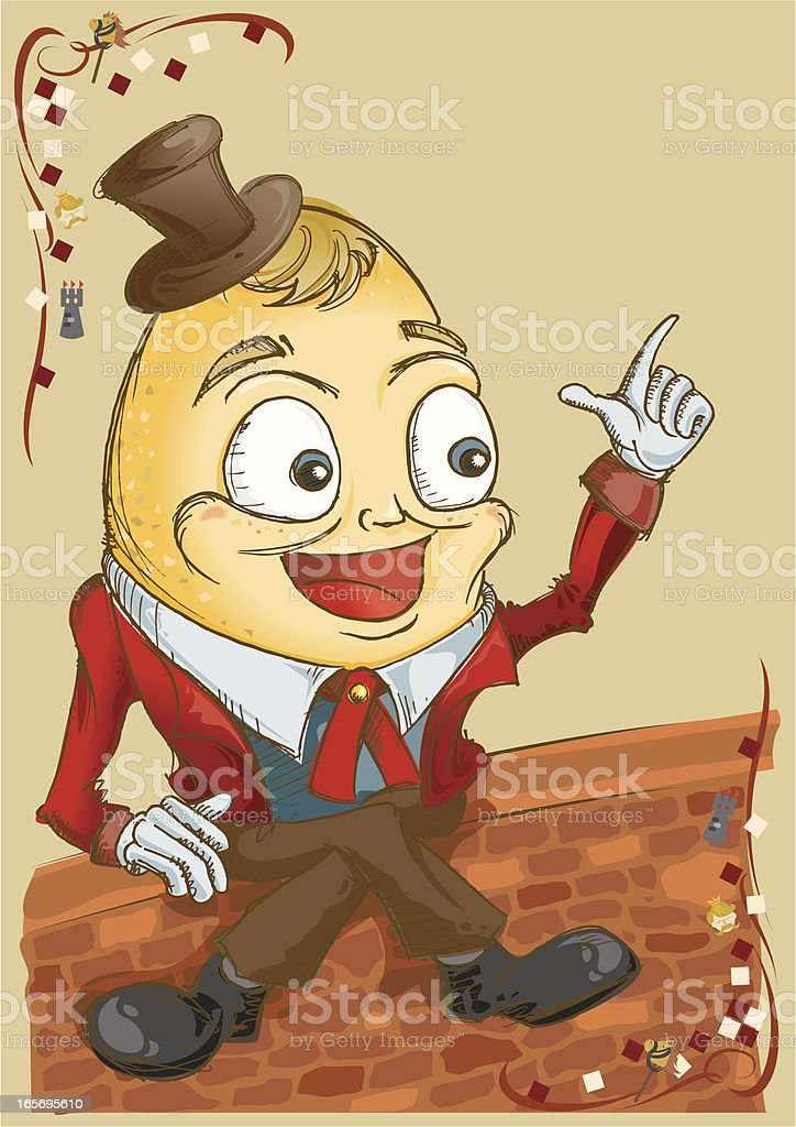 Humpty Dumpty royalty-free stock vector art