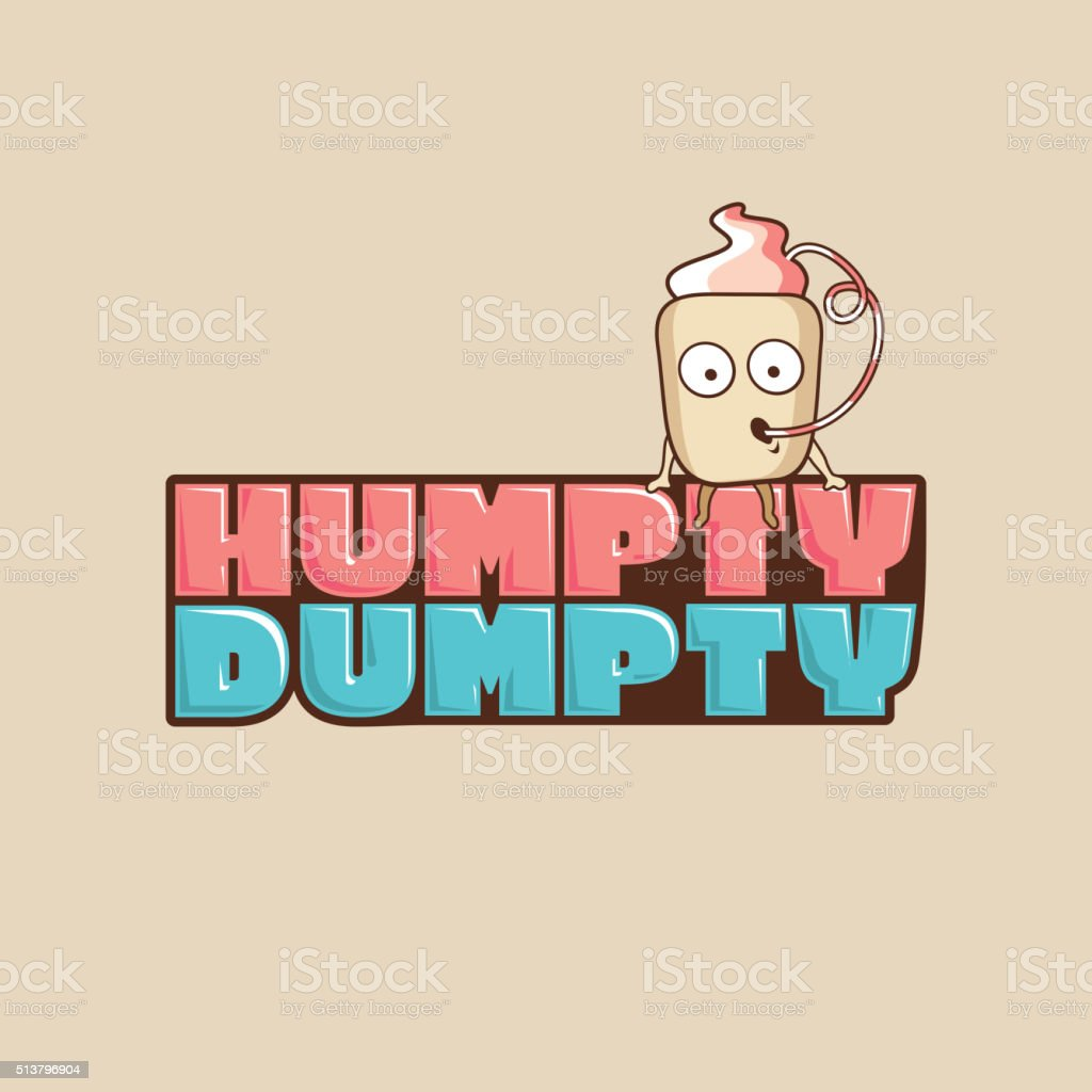 Humpty Dumpty Stock Vector Art More Images Of Abstract 513796904