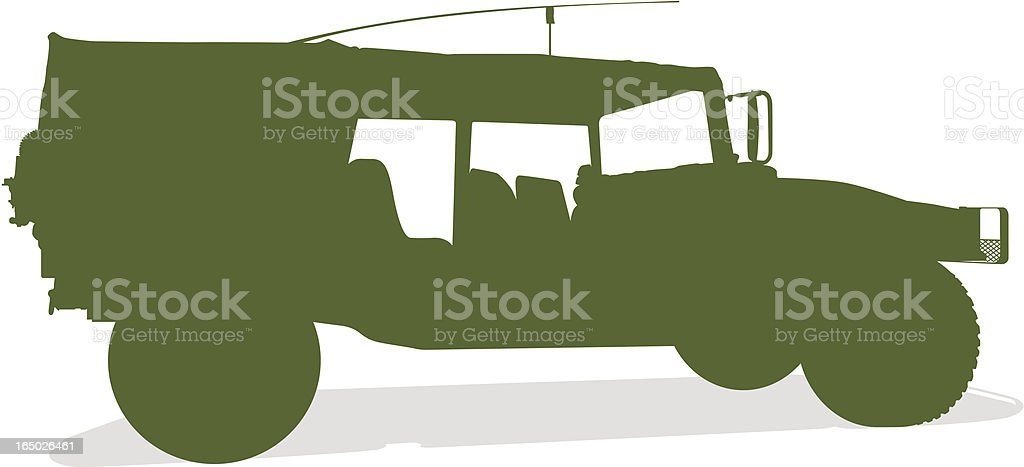 Humvee Silhouette (vector) royalty-free stock vector art
