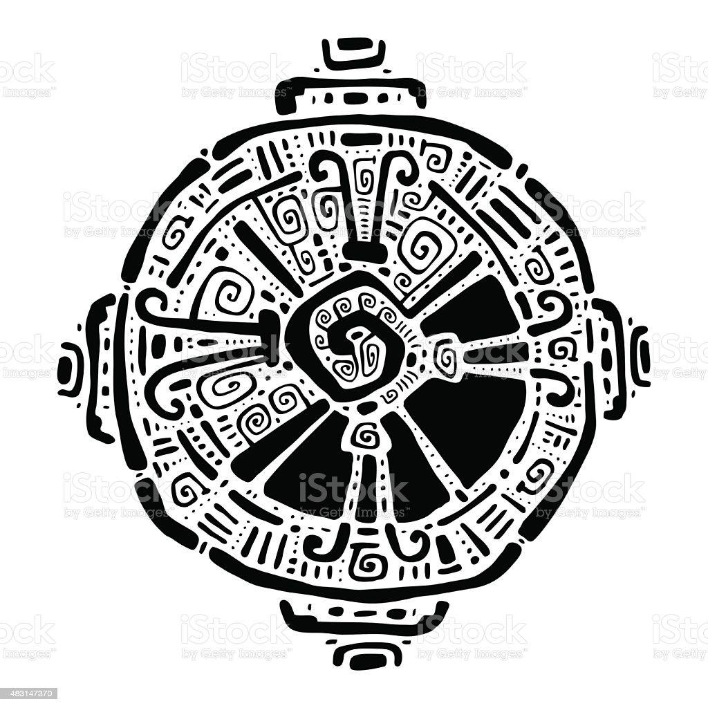 Hunab Ku. Maya símbolo. Ilustración vectorial - ilustración de arte vectorial