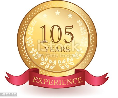 istock Hundred And Five Years Experience Banner 478261822