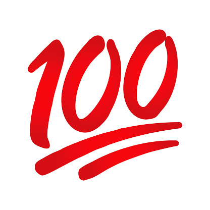 Hundred Points Emoji Icon