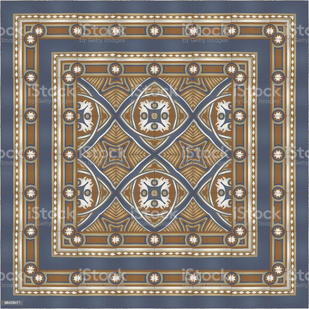Cento anni di piastrelle pavimento cento anni di piastrelle pavimento - immagini vettoriali stock e altre immagini di antico - vecchio stile royalty-free