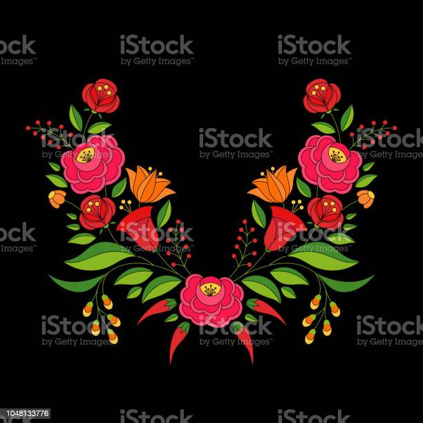 Hungarian folk pattern vector kalocsa floral ethnic ornament slavic vector id1048133776?b=1&k=6&m=1048133776&s=612x612&h=xb7hqqxt139mpmtwzlizthvcenvz rm5vkkfv81hurk=