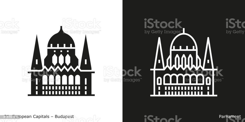 Parlamentsgebäude-Symbol, Budapest – Vektorgrafik