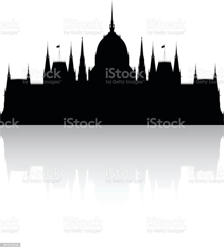 Ungarisches Parlamentsgebäude  – Vektorgrafik