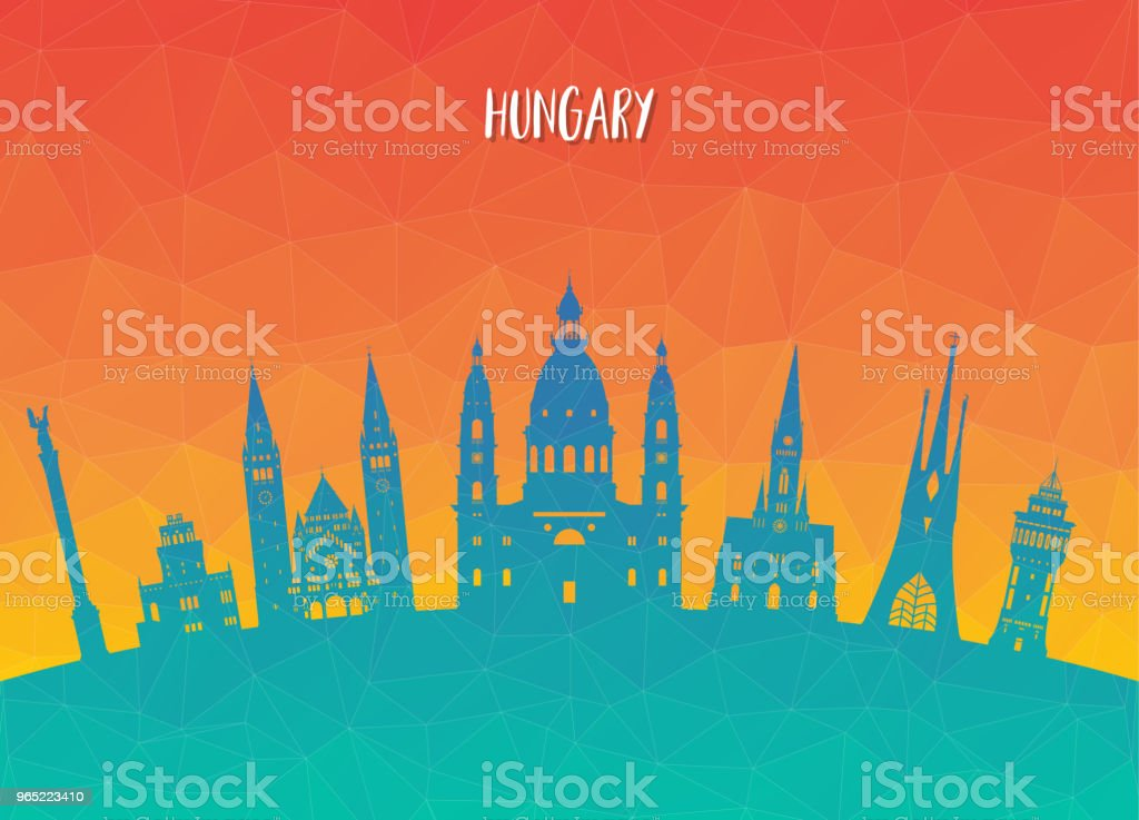 Hungary Landmark Global Travel And Journey paper background. Vector Design Template.used for your advertisement, book, banner, template, travel business or presentation. royalty-free hungary landmark global travel and journey paper background vector design templateused for your advertisement book banner template travel business or presentation stock vector art & more images of architecture