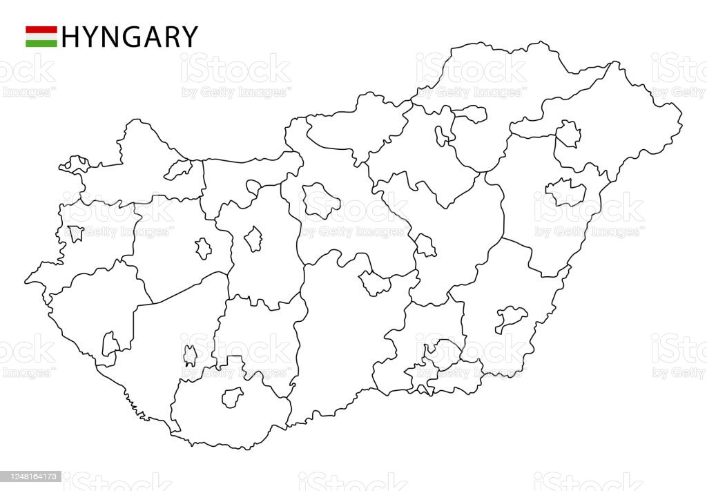 Picture of: Hungary Map Black And White Detailed Outline Regions Of The Country Stock Illustration Download Image Now Istock