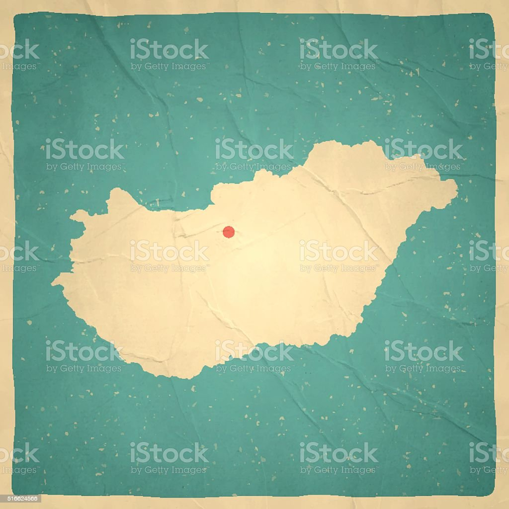 Hungary Map On Old Paper Vintage Texture Stock Vector Art More - Vintage budapest map