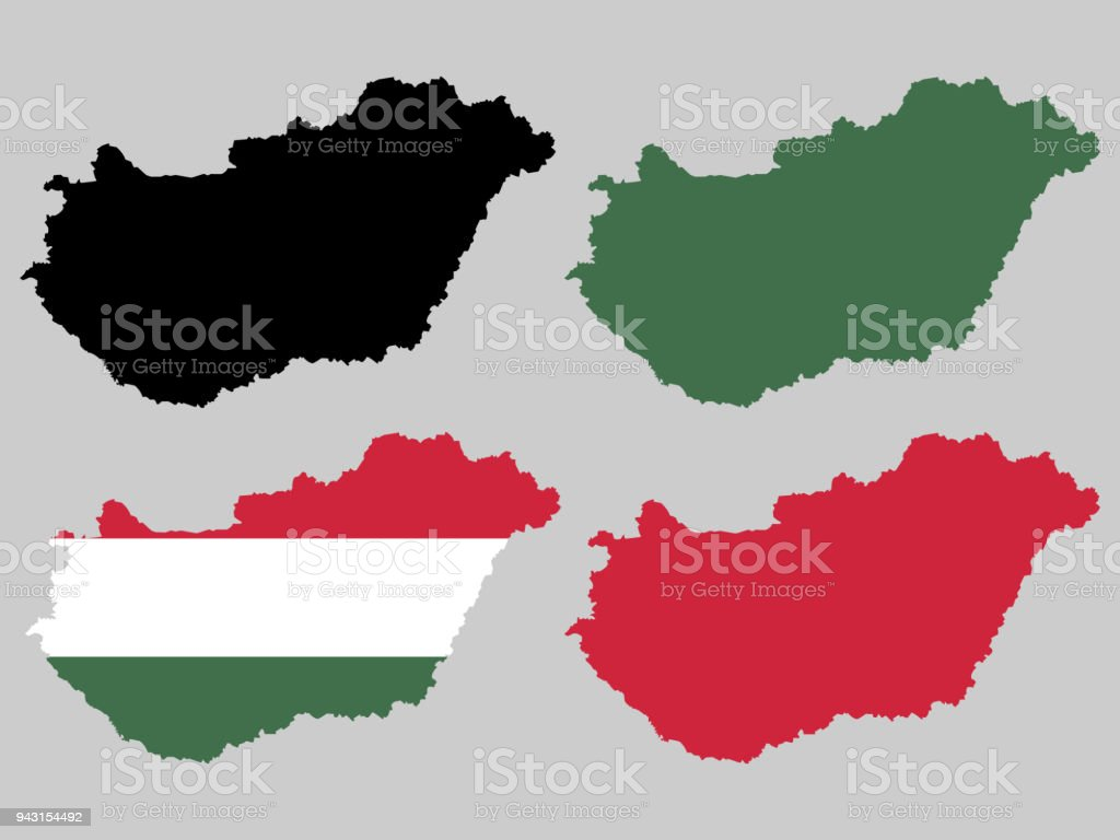 Hungary map stock vector art more images of backgrounds 943154492 hungary map royalty free hungary map stock vector art amp more images of backgrounds gumiabroncs Choice Image