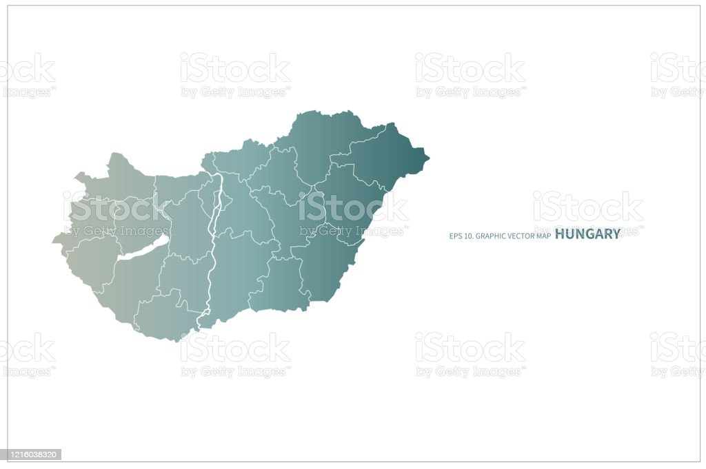 Hungary Map Vector Map Of Hungary In Europe Stock Illustration Download Image Now Istock
