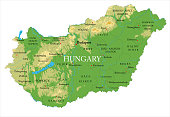 Hungary physical map