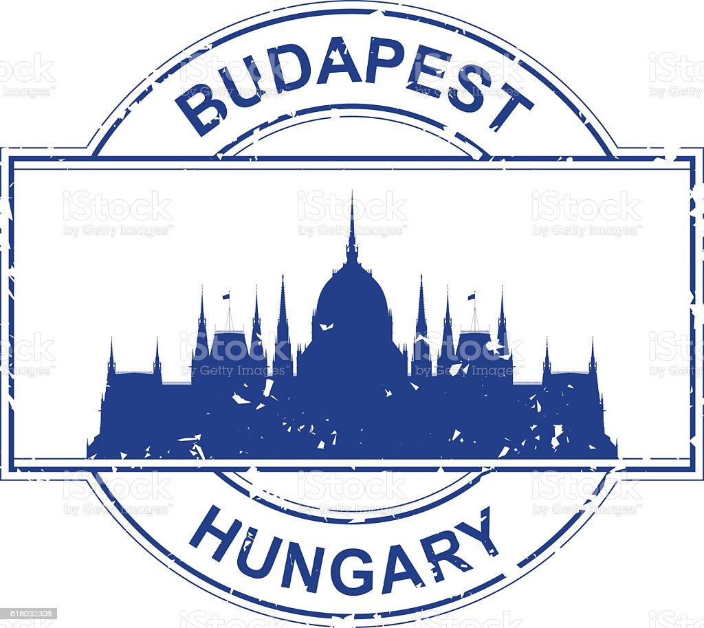 Hungary Stamp vector art illustration