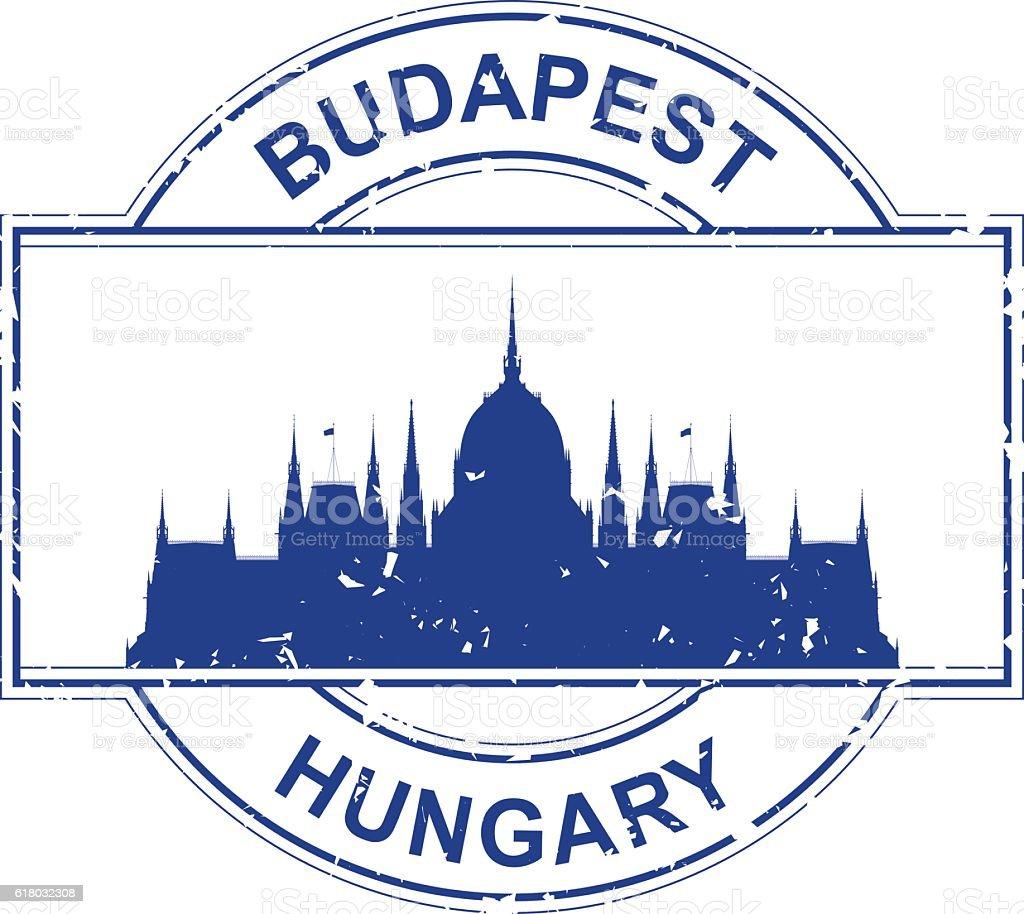 Hungary Stamp – Vektorgrafik