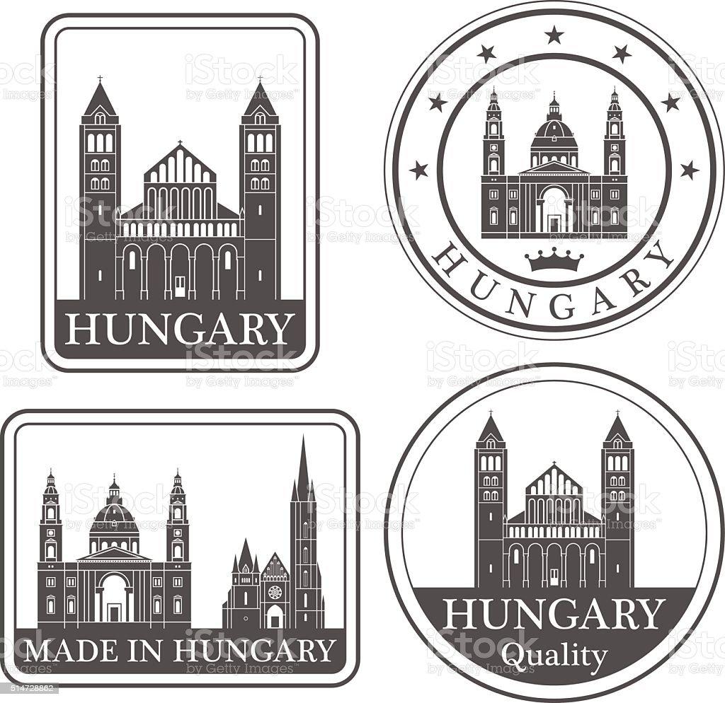 Ungarn – Vektorgrafik