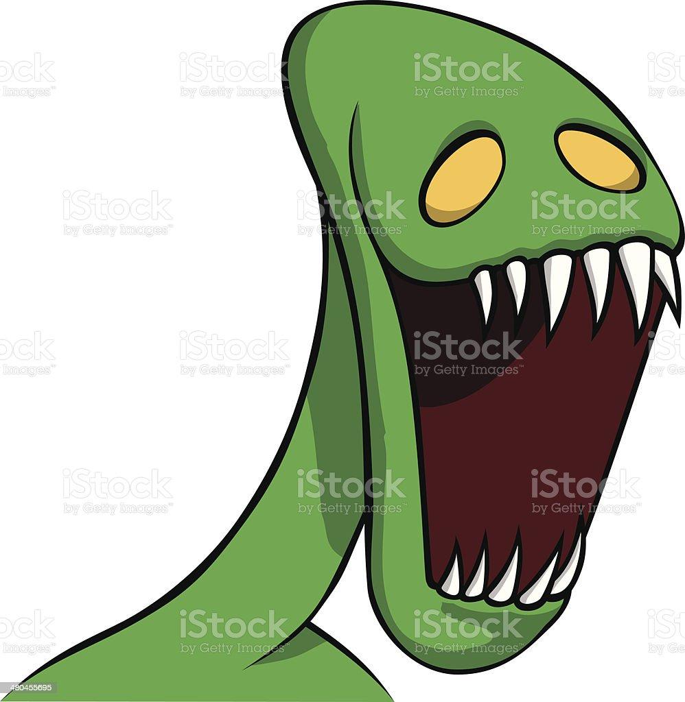 hungry alien monster vector art illustration