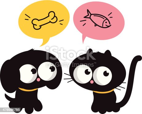 istock Hungry cat and dog 476991785