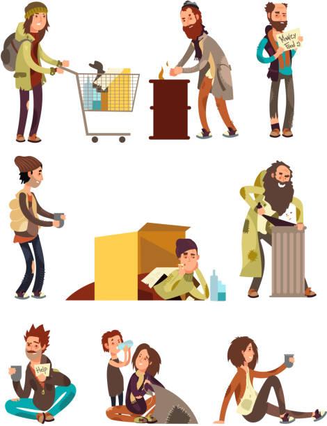 Poor Homeless Boy Character Illustration 61249959 - Megapixl