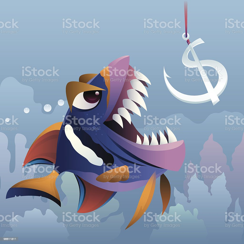 hungry fish - Royalty-free Bedrijfsleven vectorkunst
