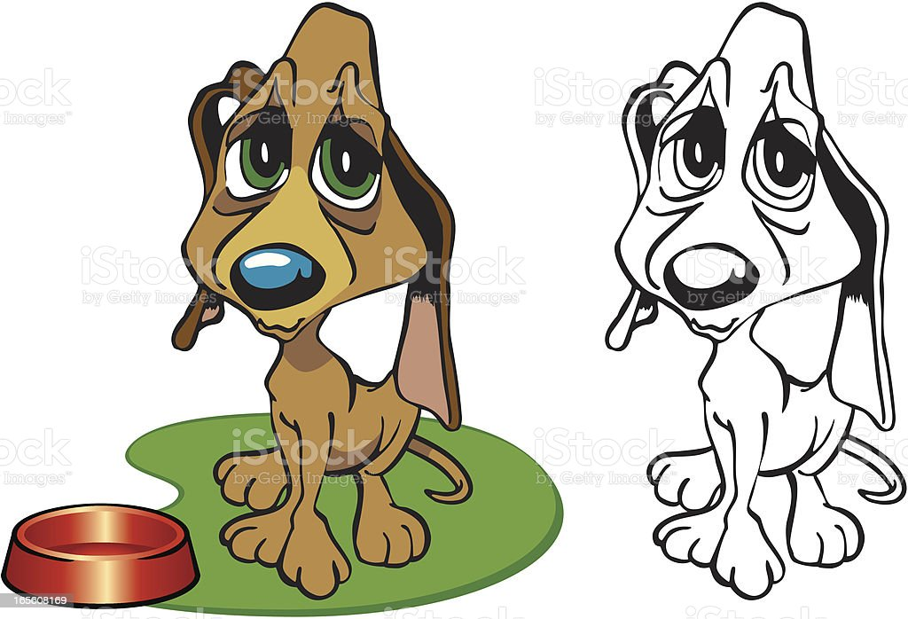 Hungry Puppy royalty-free hungry puppy stock vector art & more images of animal
