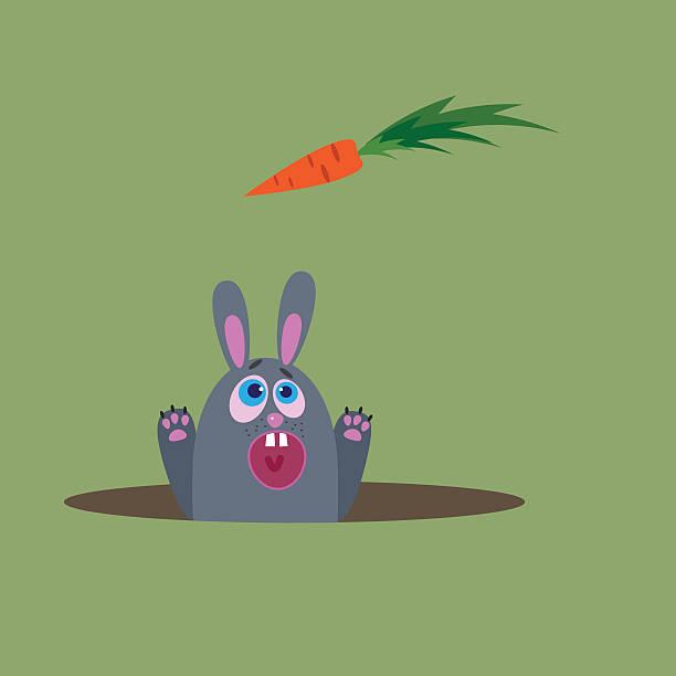 hungrig rabbit - kaninchenbau stock-grafiken, -clipart, -cartoons und -symbole