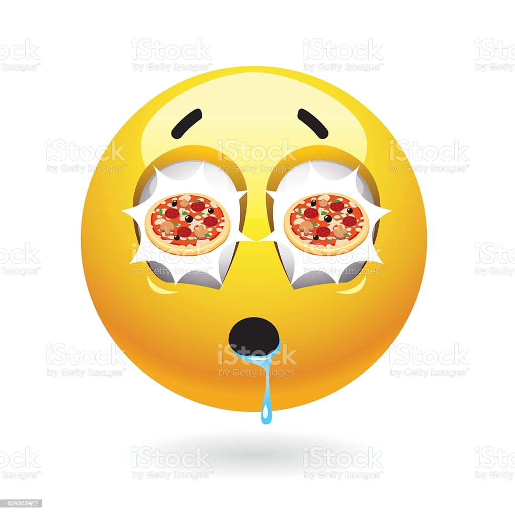 hungry smiley with pizza reflecting in it s eyes tasty food stock vector art 639355982 istock. Black Bedroom Furniture Sets. Home Design Ideas