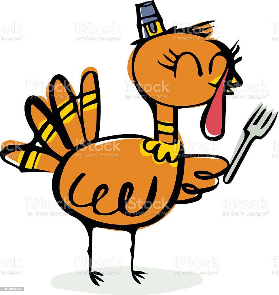 hungry turkey doodle stock vector art 494558902 istock